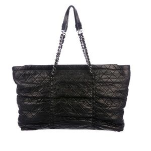 Chanel Lambskin Quilted Sharpei Tote Bag